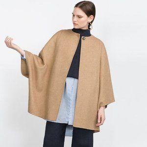 NWT Zara Woman Handmade Cape Jacket - One Size/M